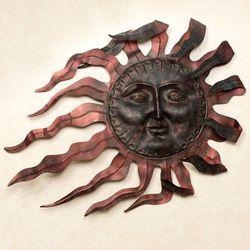 Ray du Soleil Metal Wall Sculpture Copper
