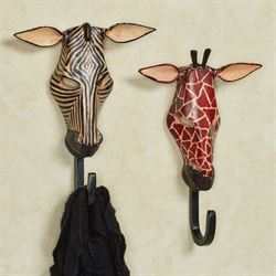 Exotic Tribe Wall Hooks Set Black Set of Two