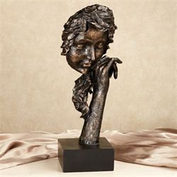 Time of Reflection Table Sculpture Dark Bronze