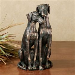 Loyal Companions Table Sculpture Bronze