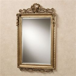 Lancaster Twist Design Wall Mirror Antique Gold