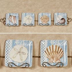 Spa Shells Salad Plates Multi Earth Set of Four