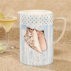 Spa Shells Beverage Pitcher Multi Earth