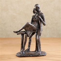 Comfortable in Love Table Sculpture Charcoal