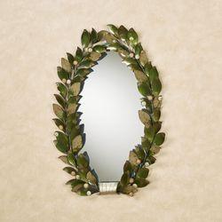 Emerging Autumn Oval Wall Mirror Green