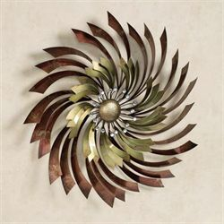 Apoch Swirl Metal Wall Sculpture Multi Metallic