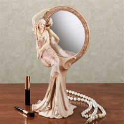 Graceful Beauty Vanity Mirror Ivory