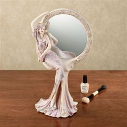 Graceful Beauty Lady Vanity Mirror Lilac