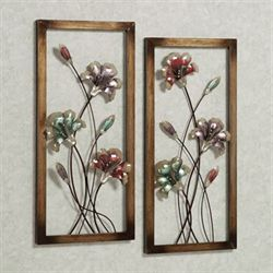Garden Whispers Wall Panel Set Multi Pastel Set of Two