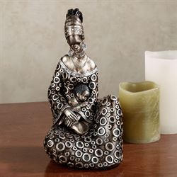 Blessings Masai Figurine Brushed Bronze