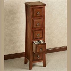 Pesaro II Storage Cabinet Regal Walnut Five Drawer