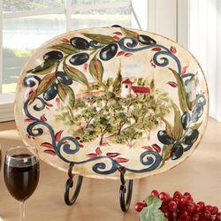 Umbria Oval Platter Beige