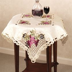 Cluster of Grapes Table Topper Cream 36 Square