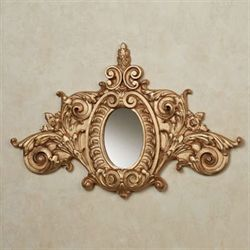 Megan Wall Accent Mirror Gold