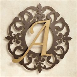 Heritage Monogram Metal Wall Art Sign Gold/Bronze