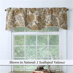 Celeste Scalloped Valance 54 x 17