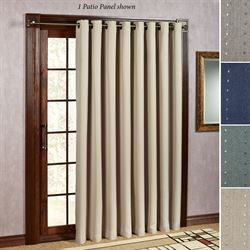 Patio door curtain panels touch of class grand pointe grommet patio curtain panel 110 x 84 planetlyrics Gallery