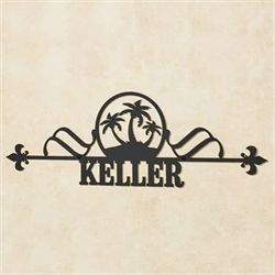 Palm Tree Personalized Plaque Black