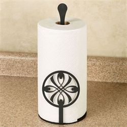 Ribbon Medallion Paper Towel Holder Black