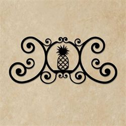 Pineapple Over the Door Plaque Black