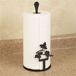 Vineyard Paper Towel Holder Black