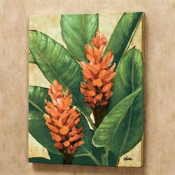 Tropical Flowers Canvas Wall Art Multi Bright