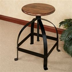 Noir Adjustable Stool Matte Black