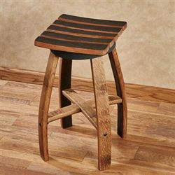 Mendocino Wine Barrel Counter Stool Dark Oak