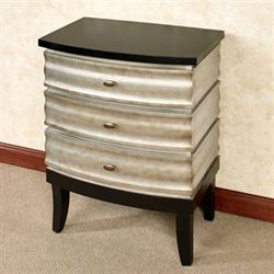 Metro Three Drawer Storage Chest Antique Silver
