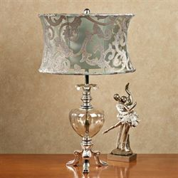 Octavia Glass Table Lamp Blue/Green