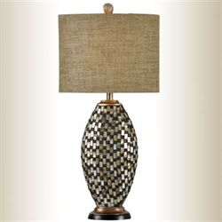 Jeweled Oval Table Lamp Multi Warm
