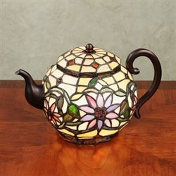 Meribella Teapot Accent Lamp Multi Pastel