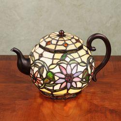 Meribella Teapot Accent Lamp Multi Pastel