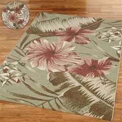 Hibiscus Rectangle Rug