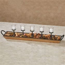Brookside Rustic Candelabra Natural