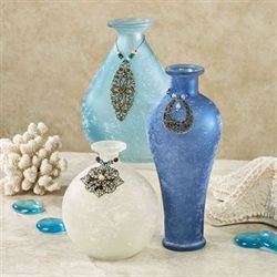 Garner Adorned Vases Blue Set of Three