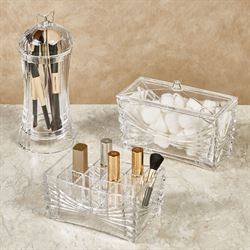 Ellena Makeup Organizers Clear Set of Three