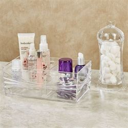 Ellena Cosmetic Organizers Clear Set of Two