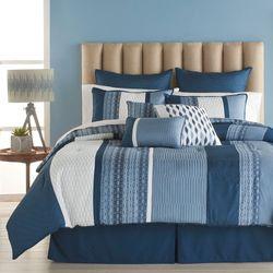 Colfax Comforter Bed Set Indigo