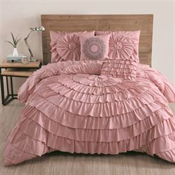 Sadie Comforter Bed Set Rose