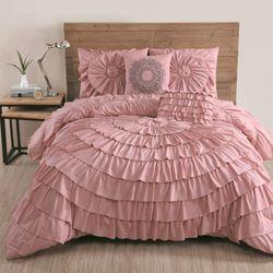 Sadie Comforter Bed Set Rose