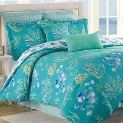 Beachcomber 8 pc Comforter Bed Set Turquoise