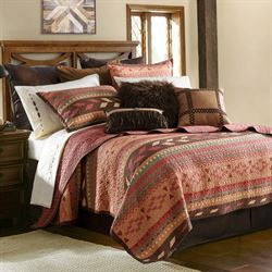 Broken Arrow Quilt Set Multi Earth
