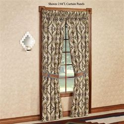 Antonio Tailored Curtain Panel Multi Warm 48 x 84