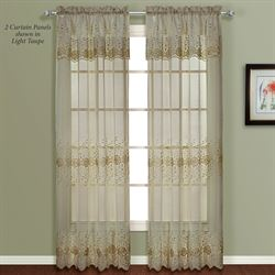 Marianna Curtain Panel with Valance