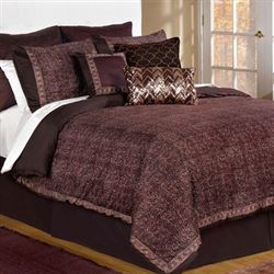 Jade Comforter Set Chocolate