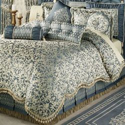 Sterling II Factory Second Comforter Set Steel Blue King