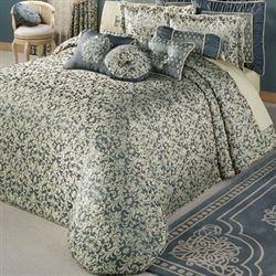 Sterling II Factory Second Grande Bedspread Steel Blue