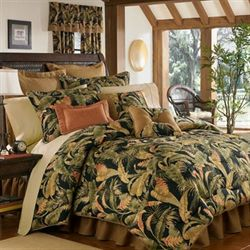 La Selva Tropical Comforter Set Black