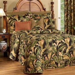 La Selva Tropical Bedspread Black